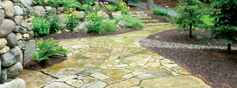 Patio and Landscaping on Upper Saranac Lake